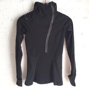 Lululemon black half-zip running hoodie sweater